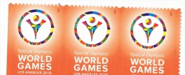 USA 2015 Special Olympic World Games 0.49c X 3 MNH ** - United States