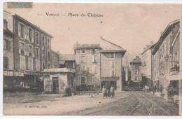 CPA 38  - VIZILLE : PLACE DU CHATEAU - Vizille