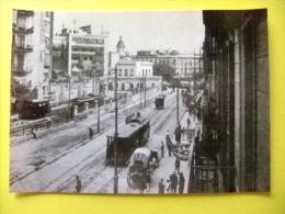 POSTAL 1908 ESTACION FERROCARRILES De SARRIA BARCELONA - Calle PELAYO Con PLAZA CATALUNYA - Estaciones Con Trenes