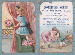 CALENDARIETTO 1916 CROMOLITO PUBBLICITARIO CONFETTERIA QUERIO DI G. PISTONO TORINO LOTTA   2 SCAN-2-0882-23769-770 - Petit Format : 1901-20