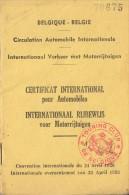 INTERNATIONAAL RIJBEWIJS VOOR MOTORRIJTUIGEN 1954 CERTIFICAT INTERNATIONAL POUR AUTOMOBILES - Titres De Transport