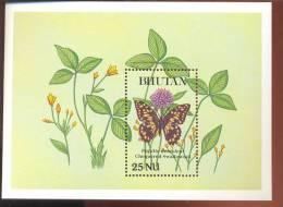 MINT NEVER HINGED SOUVENIR SHEET OF BUTTERFLIES  CHEQUE RED SWALOWTAIL(  BHUTAN  840 - Butterflies