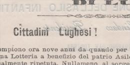 Lotteria Asilo Infantile Lugo 1884 - Ravenna