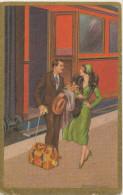 T. CORBELLA, GLAMOUR, ROMANTIC COUPLE, TRAIN, Near EX Cond. PC Not Mailed, DEGAMI - Corbella, T.