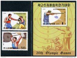 Korea 1995, SC #3463-65, Perf 2V+S/S, 26th Olympic Games - Ete 1996: Atlanta