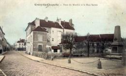 CRECY En BRIE Pont Du Marché Et La Rue Serret  Carte Couleur - Sonstige Gemeinden
