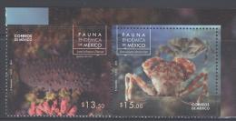 MEXICO, 2014, MNH, MARINE LIFE, CRABS, SEA CUCUMBERS, 2v - Crustaceans