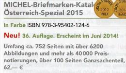 Spezial Katalog 2015 MICHEL Briefmarken Österreich Neu 62€ Bosnien Lombardei Venetien Special Catalogue Stamp Of Austria - Documentos Antiguos