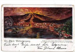 Mont Pelèe Martinique, Vulcano Eruzione 1902, Litho Gruss - F.p. - - Martinique