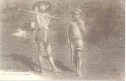 ENVIRONS DE SAIGON NR. 148 NHOS ANNMITES DE LA BROUSSE CPA 1924 A BANCO ESPAÑOL DEL RIO DE LA PLATA PARIS FRANCE RARE CI - Vietnam
