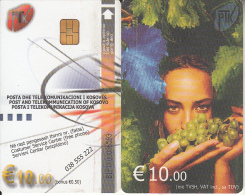 KOSOVO(chip) - Girl, PTK First Issue 10 Euro, Chip KOS1, Used - Kosovo
