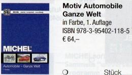 Motiv Katalog Automobile MlCHEL Ganze Welt 2015 New 64€ Automotiv Car Topic Stamps Catalogue The World 978-3-95402-118-5 - Libros, Revistas, Cómics