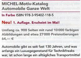 MlCHEL Motiv Katalog Automobile Ganze Welt 2015 Neu 64€ Automotiv Car Topic Stamps Catalogue The World 978-3-95402-118-5 - Télécartes