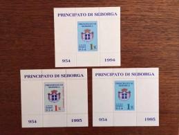 3 Francobolli / Stamps Principato Di Seborga - 1 Luigino 1994+1995+ 28.12.1995 - Otros - Europa