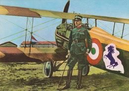 FRANCESCO BARACCA Asso Dell'aviazione Italiana Col Suo Biplano Spad XIII - Aviadores