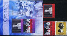 GN0491 Virgin Islands 2003 Queen Elizabeth 3v+S/S MNH - Iles Vièrges Britanniques