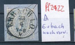 Thurn & Taxis  Nr. Nachverwendeter Stempel Erbach  O   -bitte Zettel Beachten  ( Ff2722 ) Siehe Scan Vergrößert  ! - Thurn Und Taxis