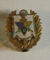 Pin's ( Masonic, knights of pythias, F.C.B., Email sur metal, 1.6 X 1.4 cm ) 2 scans