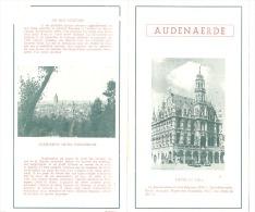 OUDENAARDE / AUDENAERDE   - Dépliant Touristique  (2 Volets) - 4 Photos - +/- 1965  (b170) - Dépliants Touristiques