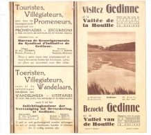 GEDINNE  - Dépliant Touristique  (4 Volets) - 5 Photos - +/- 1965  (b170) - Dépliants Touristiques
