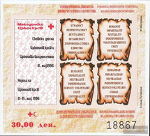 Makedonien Z Block 19b (complete.issue.) Zwangszuschlagsmarken Unmounted Mint / Never Hinged 1996 Red Cross - Macedonia