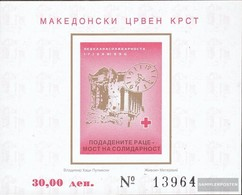 Makedonien Z Block 20b (complete.issue.) Zwangszuschlagsmarken Unmounted Mint / Never Hinged 1996 Red Cross - Macedonia