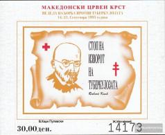 Makedonien Z Block16b (complete.issue.) Zwangszuschlagsmarken Unmounted Mint / Never Hinged 1995 Red Cross - Macedonia
