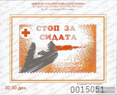 Makedonien Z Block22b (complete.issue.) Zwangszuschlagsmarken Unmounted Mint / Never Hinged 1996 Red Cross - Macedonia