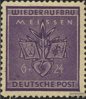 Meissen 36A, Close Perforation 11 3/4 Unmounted Mint / Never Hinged 1945 Reconstruction - Stamps