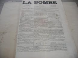 """- JOURNAL """" LA BOMBE """" 2 Juin 1889 Illustré Par PAUL De SEMANT - 500mm X 330mm - Documenti Storici"""