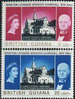 GN0567 British Guiana 1966 Churchill 2v MNH - Guyana (1966-...)