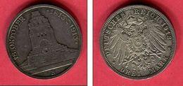 SAXE BATAILLE DE LEIBTZIG    3 MARKS 1913 E  (KM 200   ) TB+ 38 - [ 2] 1871-1918 : Empire Allemand