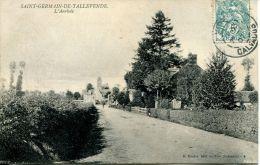 N°43227 -cpa Saint Germain De Tallevende -l'arrivée- - Other Municipalities