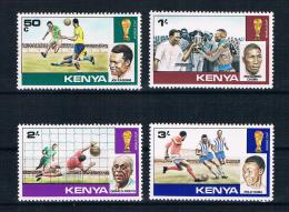 Kenia 1978 Fußball Mi.Nr. 111/14 Kpl. Satz ** - Kenia (1963-...)