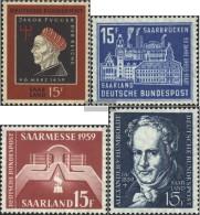 Saar 445,446,447,448 (complete.issue.) Volume 1959 Completeett Unmounted Mint / Never Hinged 1959 Fugger, Saarbrücken, - 1957-59 Federation