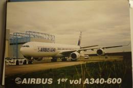 AIRBUS A 340 600      CARTE PREMIER VOL - 1946-....: Moderne