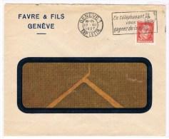 T8. Flamme: En Téléphonant Vous Gagnez Du Temps. Genève 17.12.1927. =  Pro Juventute 1927. - Lettres & Documents