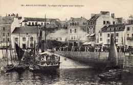 PORT DE PALAIS - DÉPART DU VAPEUR POUR QUIBERON - Belle Ile En Mer