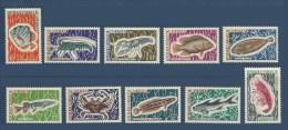 Cameroun 1968 Yvert 456/465 ** Poissons Crustaces Fish Fisch Pesci Peces - Cameroun (1960-...)