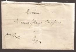 """L. Datée De Luxembourg 1839 Pour Liège Transportée Manuscrit """"Par Bonté"""" - Malte (Ordre De)"""