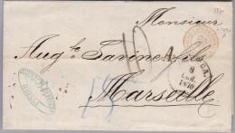 UKRAINE ODESSA 1870-09-08 Brief Nach Marseille Autriche-Lans Le Bourg Amb Rot-O - Ukraine