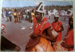 NIGERIA – TRADITIONAL DRUMMER FROM GONGOLA STATE OF NIGERIA – VIAGGIATA 1980 – (1475) - Nigeria