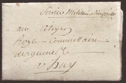 """L. Datée De ST HUBERT An 3 Pour Huy Avec Manuscrit """"Service Militaire Très Pressé"""" - 1794-1814 (Französische Besatzung)"""