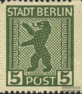 Soviet Zone (Allied.cast.) 1A XII, Open O In Post (Field 90) Unmounted Mint / Never Hinged 1945 Berlin Bear - Soviet Zone