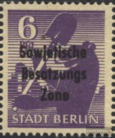 Soviet Zone (Allied.cast.) 201XVII, Dent In G Of PfG Unmounted Mint / Never Hinged  1948 Soviet Occupation Zone-Print - Soviet Zone