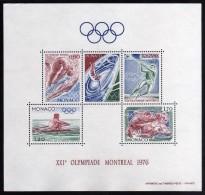 1976 - Monaco - JJOO De Montreal - HB - MNH - Verano 1976: Montréal