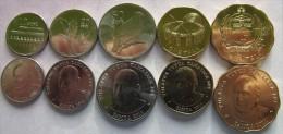 Samoa set of 5 coins 2011 ( 10+20+50 Sene+1+2 Tala) UNC