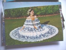 Panama Beautiful Young Lady Pollera - Panama