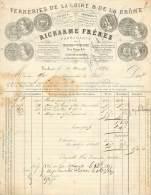 TOULOUSE . RICHARME FRERES . VERRERIES DE LA  LOIRE ET DE LA DROME . 1877 . - Frankrijk