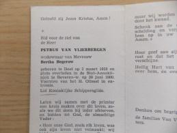 Doodsprentje Petrus Van Vlierbergen Doel 2/3/1935 Beveren Waas 29/6/1980 ( Bertha Begerow ) - Religione & Esoterismo